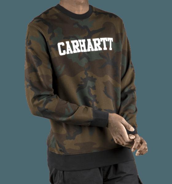 Carhartt M Collage Sweatshirt Tröjor CAMO EVERGREEN/WHI