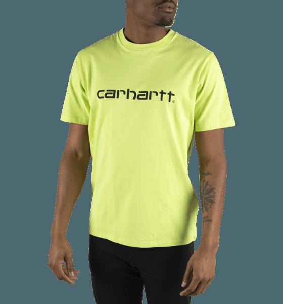 Carhartt M Script T-shirt T-shirts LIME/BLACK