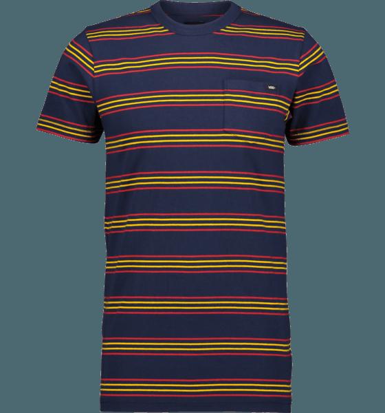 Vans M Chaparral Stripe T-shirts DRESS BLUES